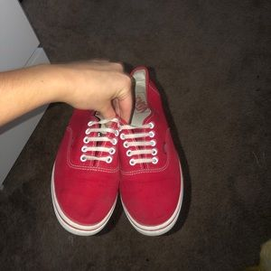 Red Vans authentic style
